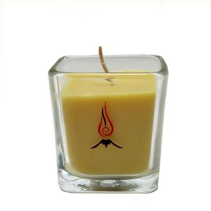 volcano beeswax candle