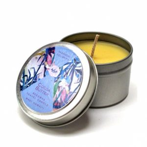 cocoa butter travel candle
